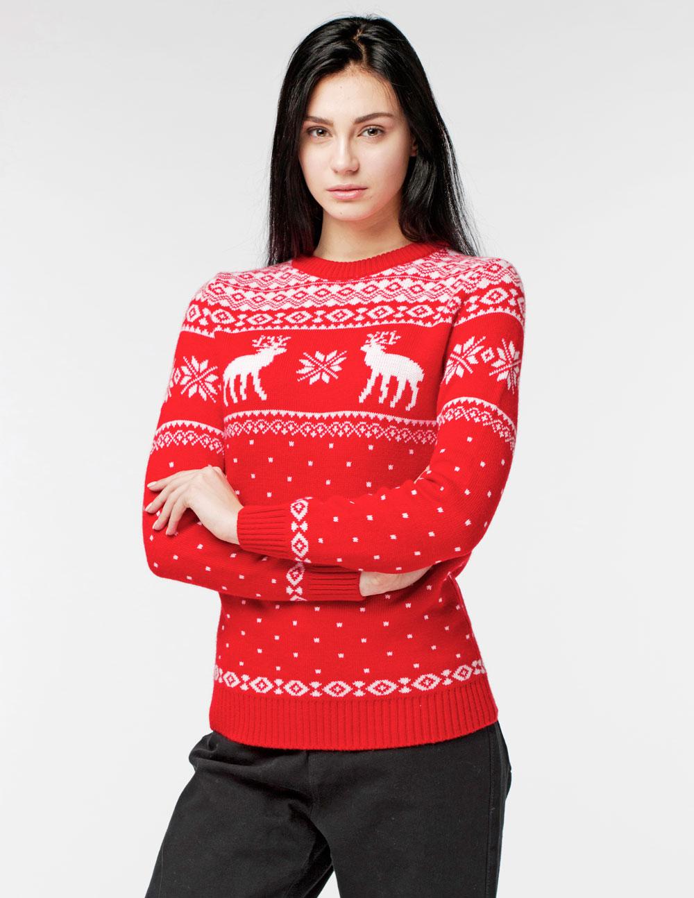 Женские свитеры с оленями